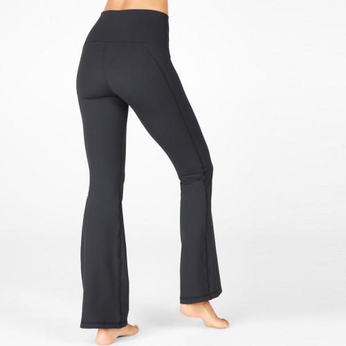 Private Label Activewear Lycar High Waisted Custom Wide Leg Yoga Pants-Aktik