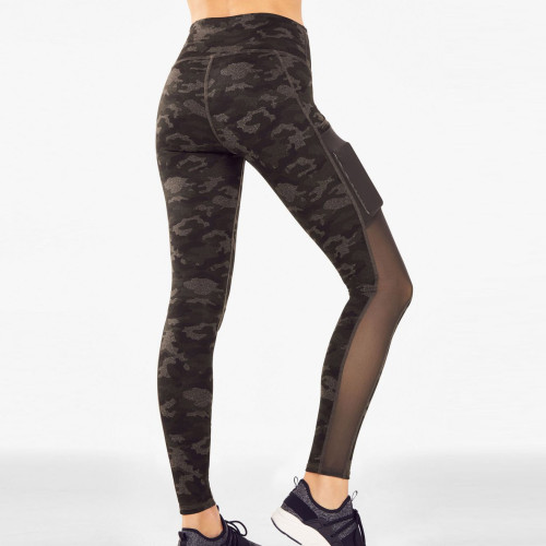 Wholesale Yoga Clothes High Waisted Camo Leggings Outfit with Mesh Pockets-Aktik