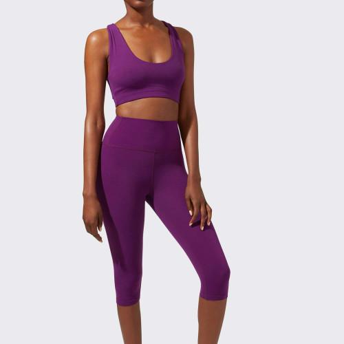 Private Label Wholesale High Waisted Capri Workout Leggings for Women-Aktik