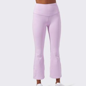 Private Label High Waisted Wide Leg Loose Custom Athleta Yoga Pants-Aktik