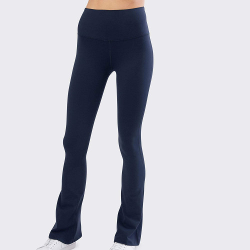 Private Label Wholesale High Waisted Womens Wide Leg Flare Yoga Pants-Aktik
