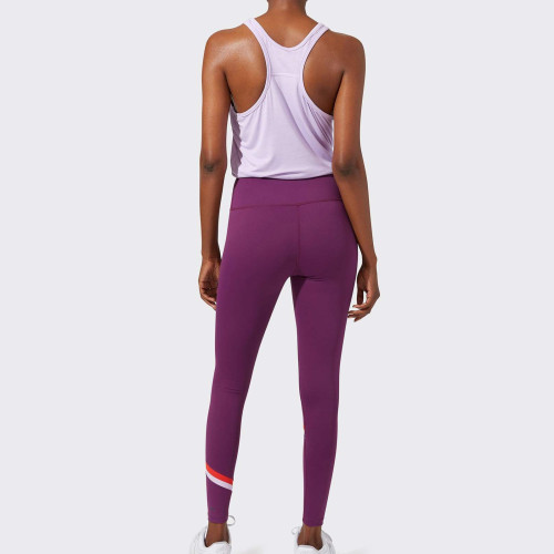 Private Label Womens Best Wholesale Leggings Outfit with Colored Stripes-Aktik