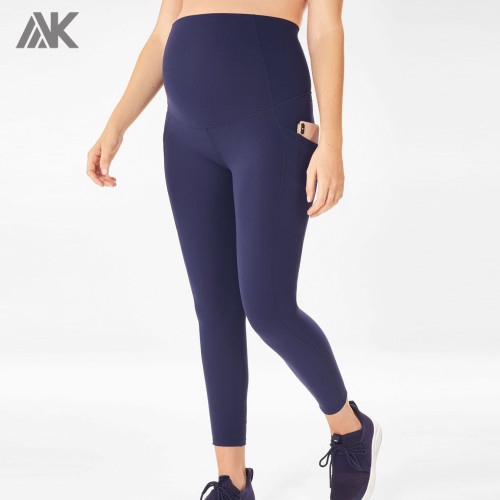 Custom High Waisted Supportive Maternity Compression Leggings with Pockets-Aktik