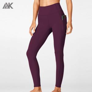 Custom Athletic Leggings Women's High Waisted Leggings with Pockets-Aktik
