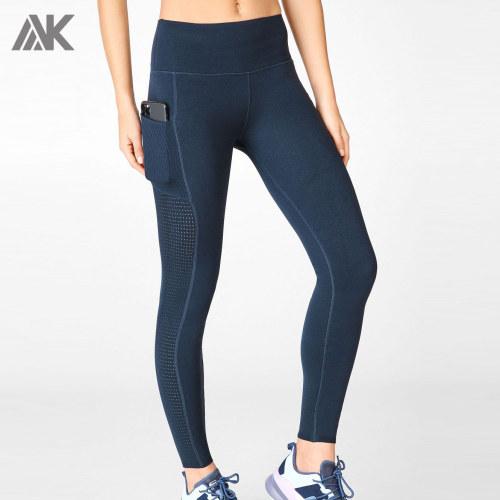 Private Label Wholesale Women's Best Workout Leggings with Mesh Pockets-Aktik