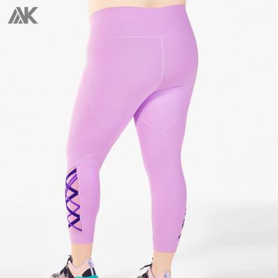 Custom Womens High Waisted Best Plus Size Leggings with Mesh Panels-Aktik