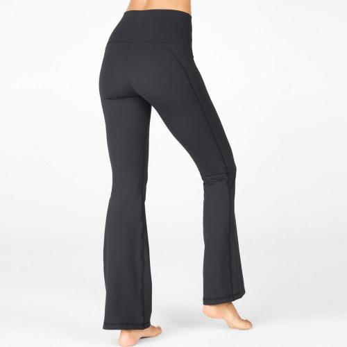 Custom Nylon High Waisted Tummy Control Flare Leg Yoga Pants for Women-Aktik