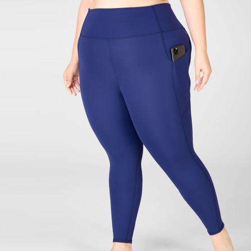 Custom Stretch High Waisted Tummy Control Plus Size Leggings with Pockets-Aktik