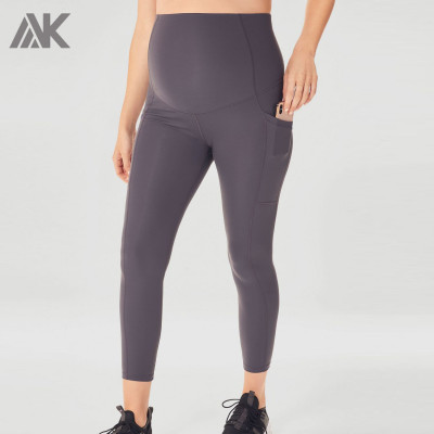 Custom High Waisted Best Support Plus Size Maternity Leggings with Pockets-Aktik