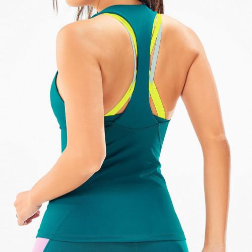 Custom Dri Fit Workout Tanks Wholesale T-Back Women's Athletic Tank Tops-Aktik