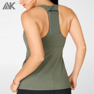 Custom Dri Fit Muscle Tank Tops Womens Racerback Tank Tops with Pocket-Aktik