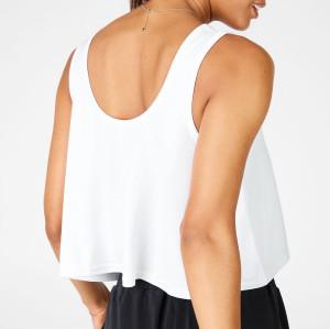 Custom Cotton Spandex Womens Loose Fitting Workout Plus Size Tank Tops-Aktik