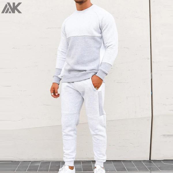 Custom Cotton Bulk Sweatsuits Mens Pullover Jogging Suits Wholesale-Aktik
