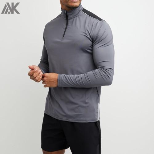 Wholesale Dri Fit Long Sleeve Shirts Custom Athletic Shirts for Men-Aktik