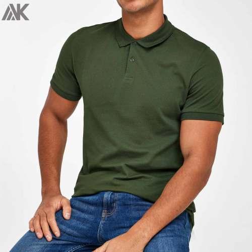 Custom Made T Shirts Wholesale Short Sleeve Cotton Polo T Shirts for Men-Aktik