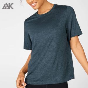 Custom Workout Shirts Plus Size Loose Wholesale Dri Fit T Shirts for Women-Aktik
