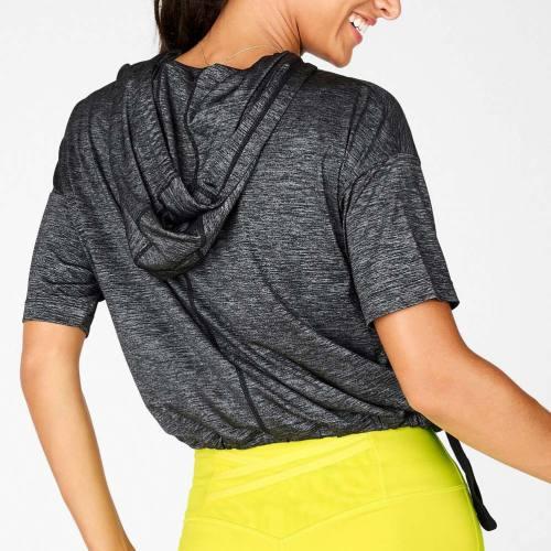 Custom Hooded T Shirt Women's High Quality T ShirtsWholesale with Pocket-Aktik