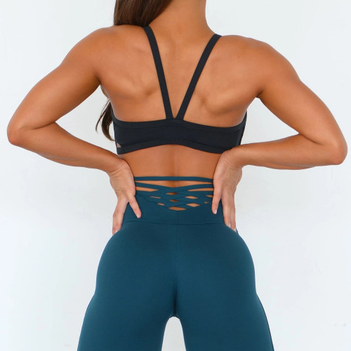 Custom Best High Impact Padded Push Up Hot Sports Bras for Large Breasts-Aktik