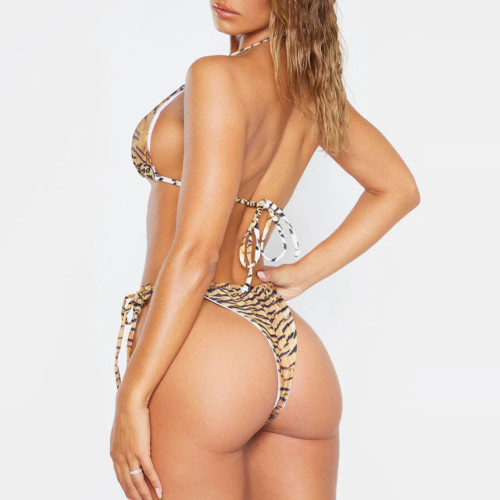 Private Label Wholesale Recycled 2 Piece Tie Up Sexy Busty Teen Bikini-Aktik
