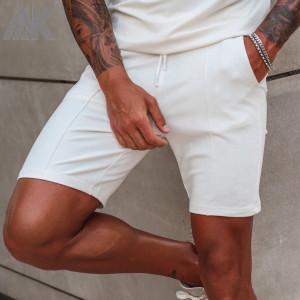 Custom High Waisted Mens Cotton Sweat Shorts Wholesale with Pockets-Aktik