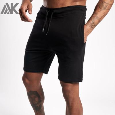 Custom Cotton Fleece High Waisted Mens Athletic Shorts with Pockets-Aktik