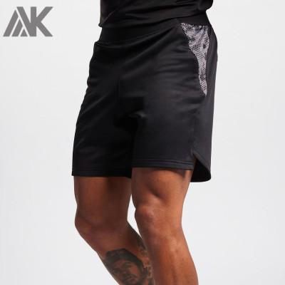 Custom Mens Workout Shorts Wholesale Best Athletic Shorts with Zip Pockets-Aktik
