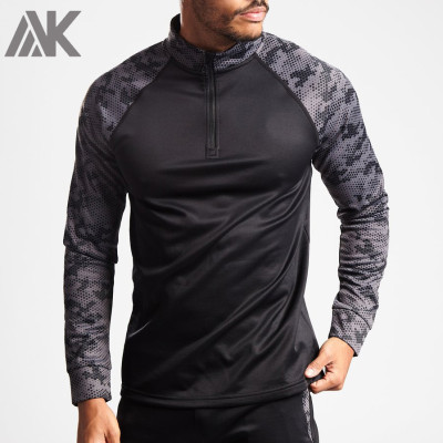 Wholesale Moisture Wicking Shirts Custom Mens Long Sleeve Running T Shirt-Aktik