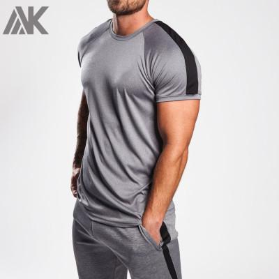 Wholesale Dry Fit Shirts Raglan Short Sleeve Custom Gym T Shirts for Men-Aktik