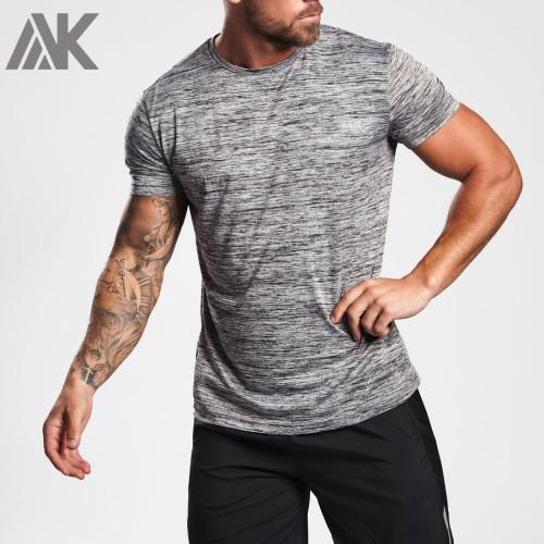 Best Custom T Shirt Slim Fit Short Sleeve Mens Crew Neck Fitness T Shirt-Aktik