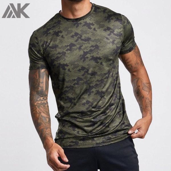 Wholesale Custom T Shirts Short Sleeve Dry fit Sport T Shirt for Men-Aktik