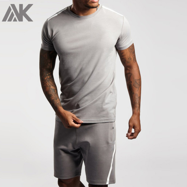 Customize Your Own T shirt Crew Neck Cotton Printed T Shirts for Men-Aktik