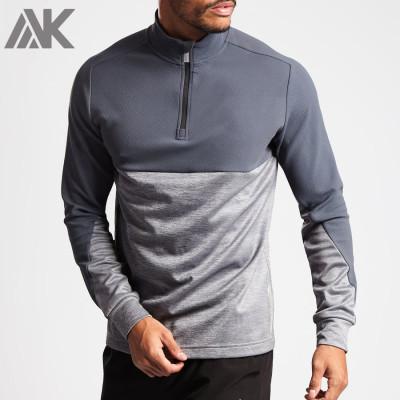Private Label Custom Embroidered Quarter Zip Golf Mens Sweatshirts-Aktik