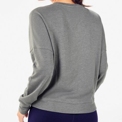 Private Label Custom Made Crewneck Cotton Oversized Sweatshirts for Women-Aktik