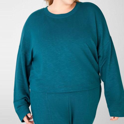 Private Label Custom Plus Size Oversized Crewneck Sweatshirts for Women-Aktik