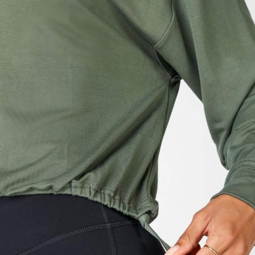Custom Logo Oversized Crewneck Off The Shoulder Sweatshirt for Women-Aktik