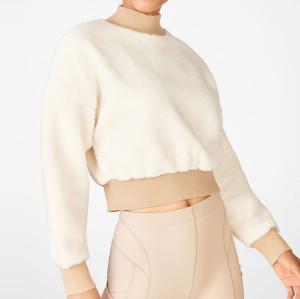 Best Custom High Neck Oversized Fleece Sweatshirt Womens-Aktik