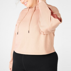 Custom Printed Logo Womens Cotton Plus Size Oversized Crop Top Sweatshirt-Aktik