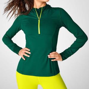 Custom Hoodie Design Wholesale Slim Fit Quarter Zip Hoodie for Women-Aktik