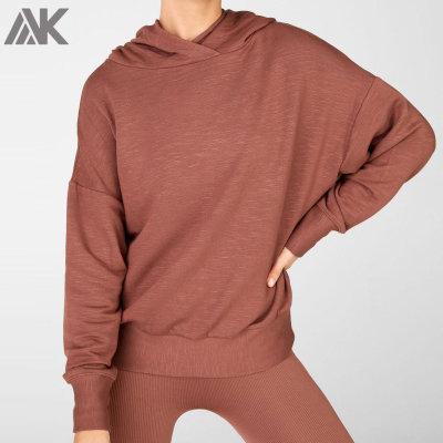 Private Label Wholesale Plain Cotton Oversized Hoodie for Women-Aktik