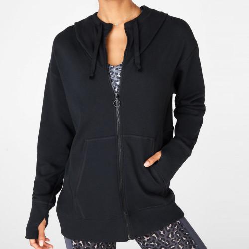 Customize Your Own Hoodie Cotton Fleece Oversized Womens Zip Up Hoodies-Aktik