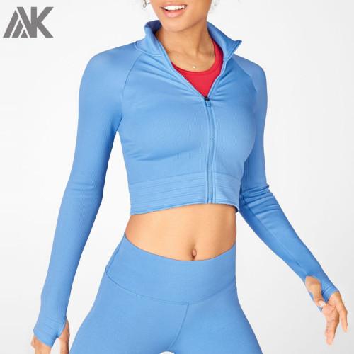 Wholesale Athletic Jackets Custom Womens Dri Fit Cropped Dance Jackets-Aktik