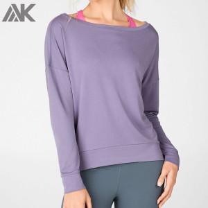 Customize Your Own Cotton Oversized Women's Off The Shoulder Sweatshirt-Aktik