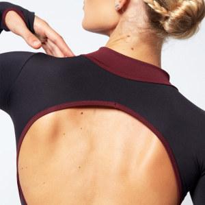 Custom Long Sleeve Gymnastics Leotard Womens Open Back Zip Leotard Ballet-Aktik