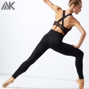 Custom Mesh Ballet Outfits Wholesale Criss Cross Back Dancer Clothes-Aktik