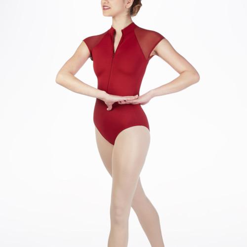 Custom Dance Unitards Wholesale Half Zip Dance Outfits for Practice-Aktik