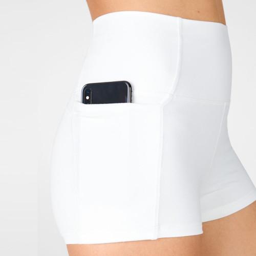 Custom Women's Active Shorts Mid Rise Hot Yoga Shorts Women with Pockets-Aktik