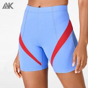 Wholesale Mid Rise Dry Fit Compression Best Bike Shorts for Women-Aktik