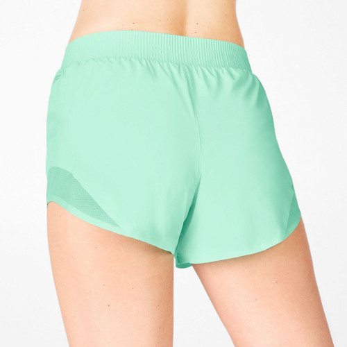 Wholesale Running Shorts Mid Rise Womens Athletic Shorts with Mesh Panels-Aktik