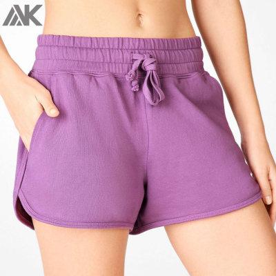 Wholesale Cotton French Terry Plus Size Athletic Sweat Shorts Women-Aktik