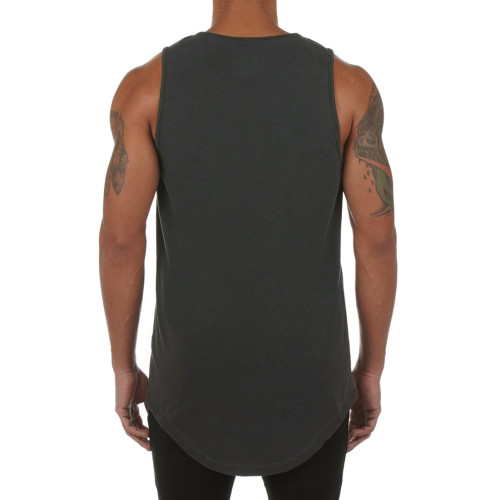 Private Label Wholesale Best Crew Neck Cotton Mens Workout Tank Tops-Aktik